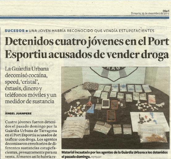 Detenidos cuatro jóvenes acusados de vender droga
